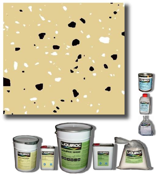 Ivoire paillettes bicolores for Peinture sol resine garage